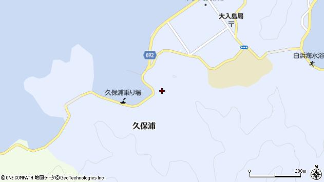 大分県佐伯市久保浦800周辺の地図