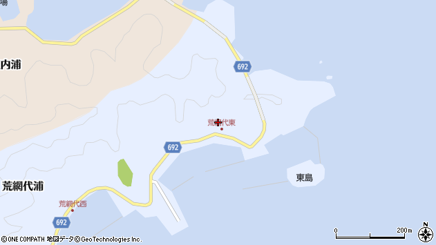 大分県佐伯市荒網代浦68周辺の地図