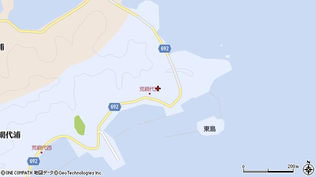 大分県佐伯市荒網代浦84周辺の地図