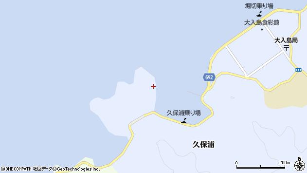 大分県佐伯市久保浦216周辺の地図