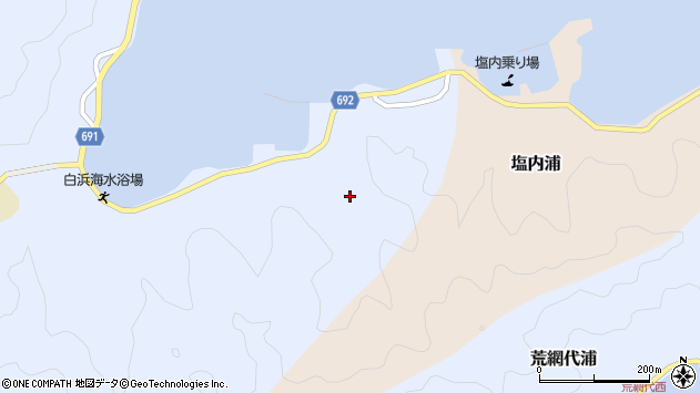 大分県佐伯市片神浦1306周辺の地図