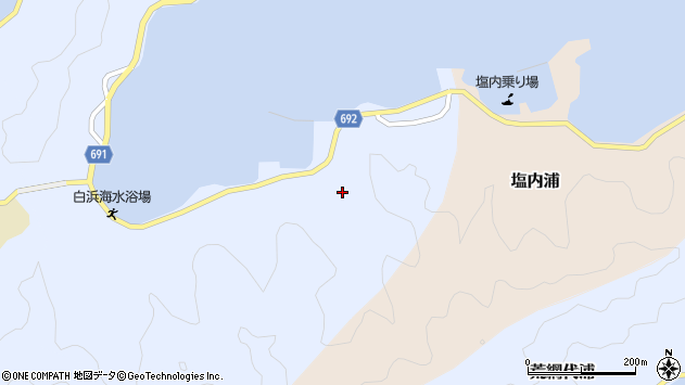 大分県佐伯市片神浦1298周辺の地図