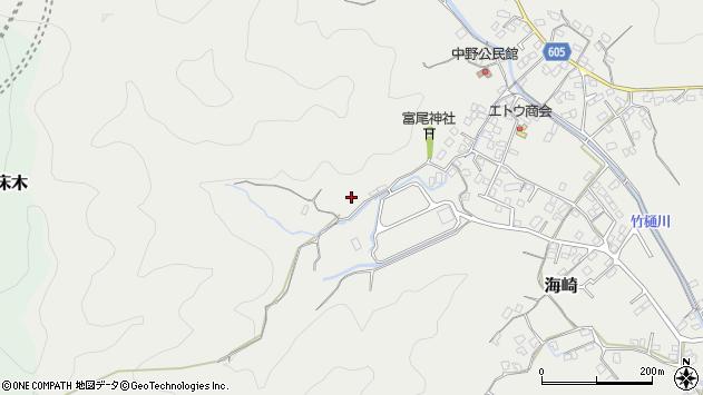 大分県佐伯市海崎山ノ口周辺の地図