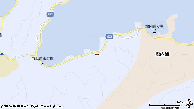 大分県佐伯市片神浦周辺の地図