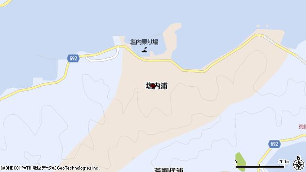 大分県佐伯市塩内浦125周辺の地図