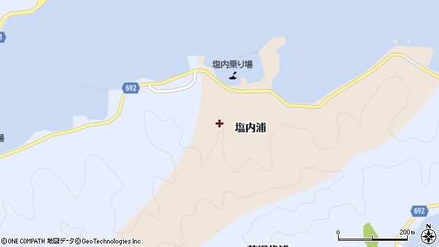 大分県佐伯市塩内浦塩内区周辺の地図