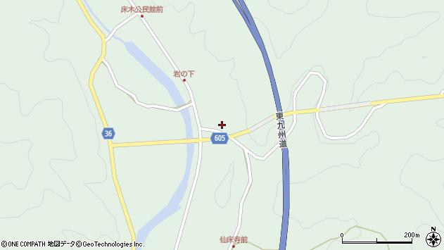 大分県佐伯市弥生大字床木1213周辺の地図