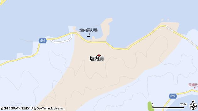 大分県佐伯市塩内浦128周辺の地図