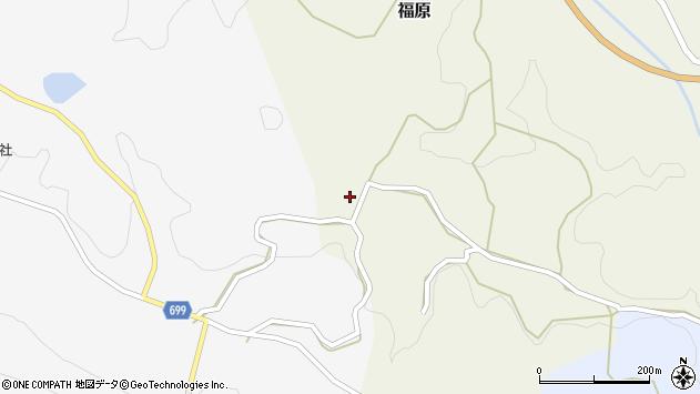 大分県竹田市福原227周辺の地図