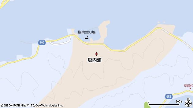大分県佐伯市塩内浦159周辺の地図