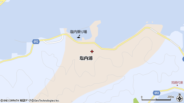 大分県佐伯市塩内浦155周辺の地図