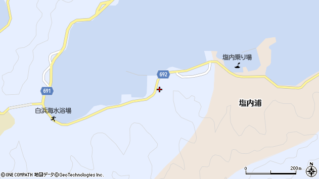 大分県佐伯市片神浦1344周辺の地図
