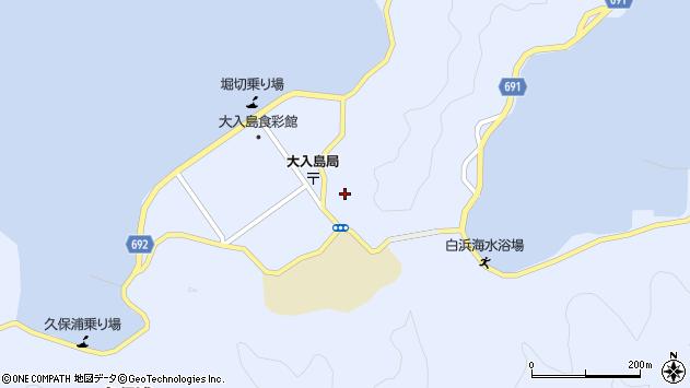 大分県佐伯市久保浦堀切周辺の地図