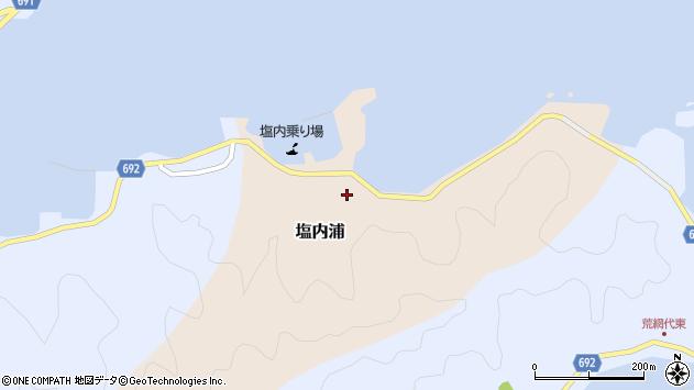 大分県佐伯市塩内浦148周辺の地図