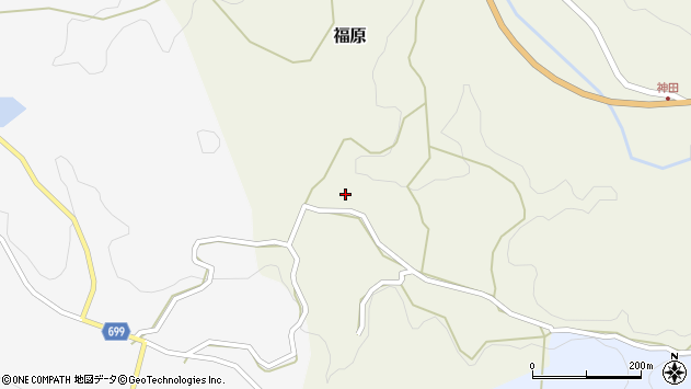 大分県竹田市福原宇土周辺の地図