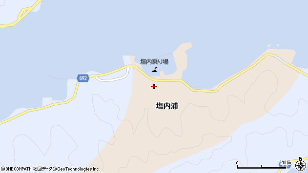 大分県佐伯市塩内浦111周辺の地図