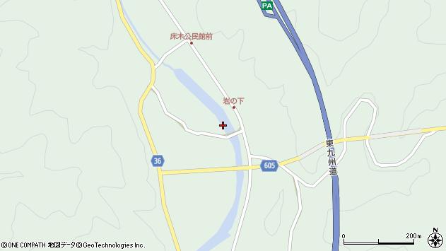 大分県佐伯市弥生大字床木3505周辺の地図