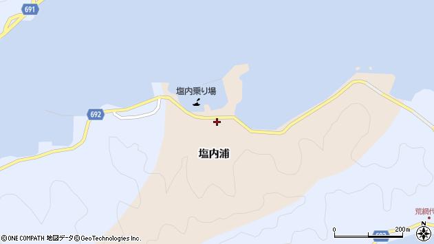 大分県佐伯市塩内浦周辺の地図