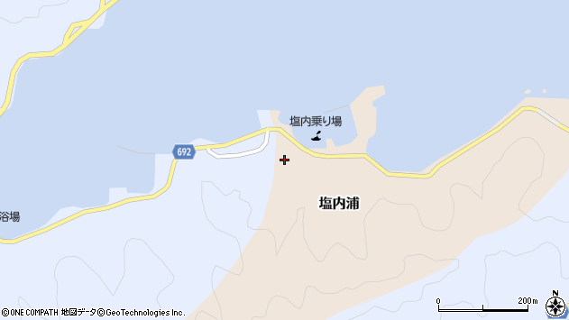大分県佐伯市塩内浦91周辺の地図