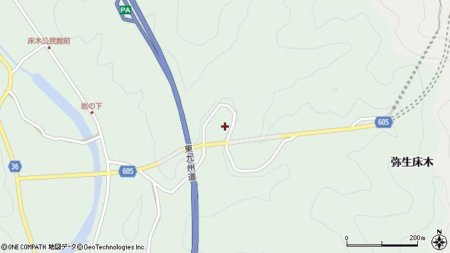 大分県佐伯市弥生大字床木1146周辺の地図