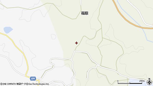 大分県竹田市福原124周辺の地図