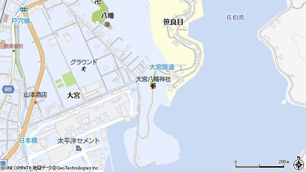 大分県佐伯市戸穴61周辺の地図