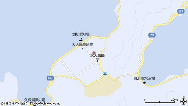 大分県佐伯市久保浦1059周辺の地図