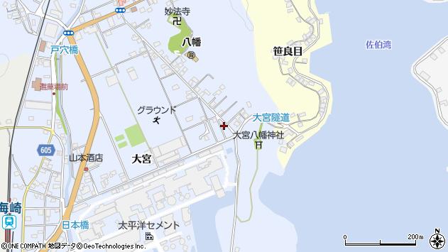 大分県佐伯市戸穴31周辺の地図
