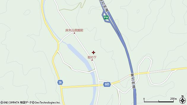 大分県佐伯市弥生大字床木1257周辺の地図