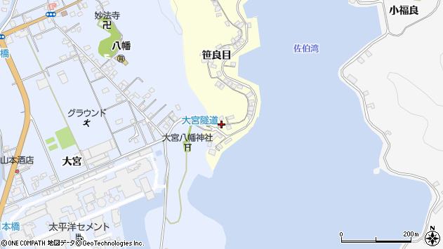 大分県佐伯市霞ケ浦144周辺の地図