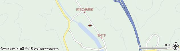 大分県佐伯市弥生大字床木1292周辺の地図