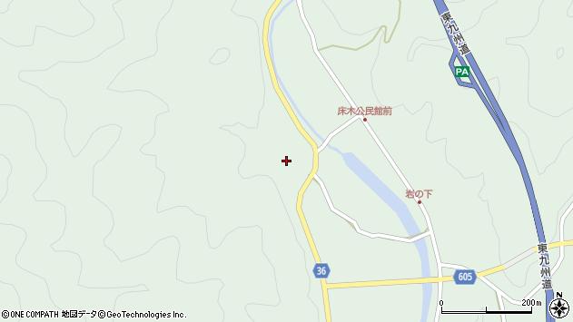 大分県佐伯市弥生大字床木2899周辺の地図