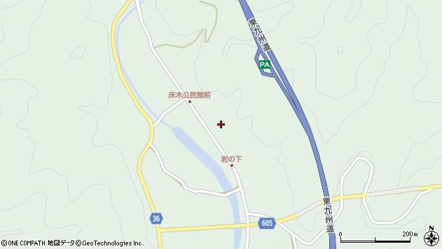 大分県佐伯市弥生大字床木1302周辺の地図