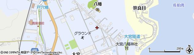 大分県佐伯市戸穴267周辺の地図