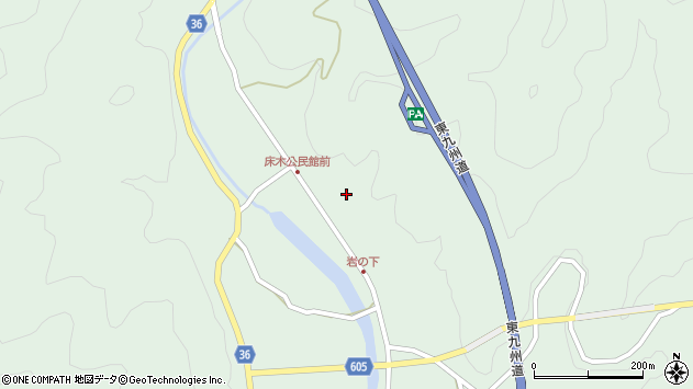 大分県佐伯市弥生大字床木1311周辺の地図