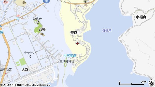 大分県佐伯市霞ケ浦185周辺の地図