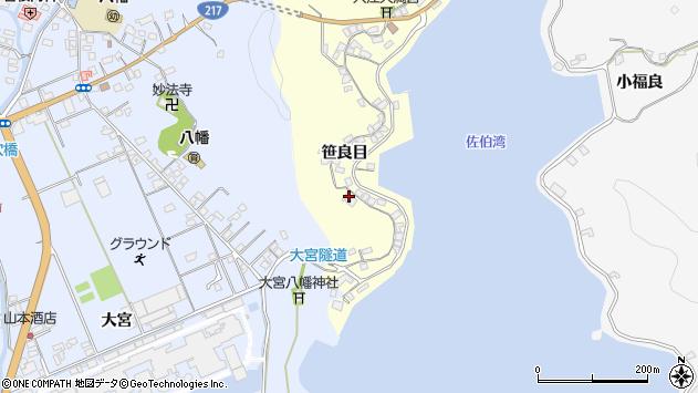 大分県佐伯市霞ケ浦187周辺の地図