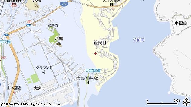 大分県佐伯市霞ケ浦193周辺の地図