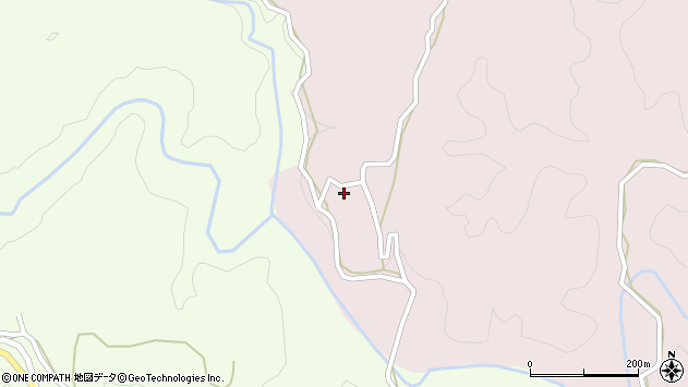 大分県竹田市枝335周辺の地図