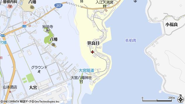 大分県佐伯市霞ケ浦189周辺の地図