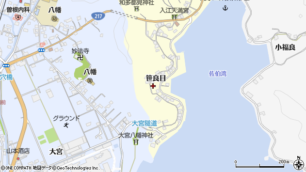 大分県佐伯市霞ケ浦198周辺の地図
