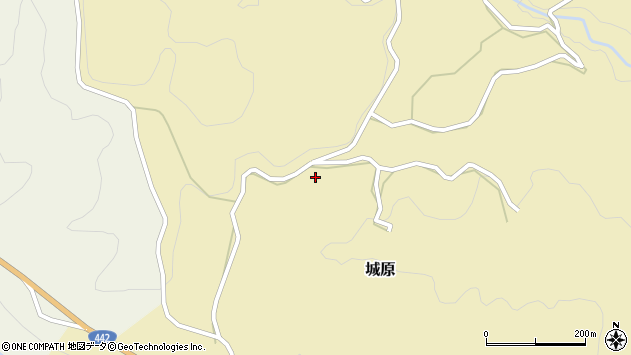 大分県竹田市城原736周辺の地図