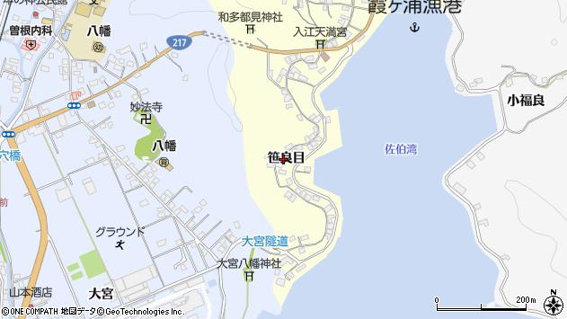 大分県佐伯市霞ケ浦208周辺の地図