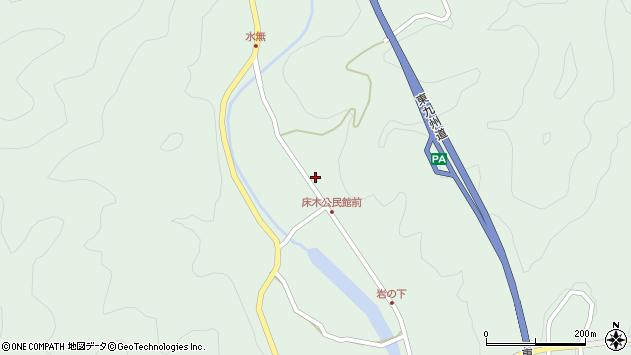 大分県佐伯市弥生大字床木1386周辺の地図