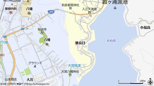 大分県佐伯市霞ケ浦212周辺の地図