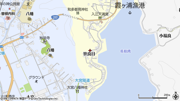大分県佐伯市霞ケ浦221周辺の地図