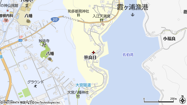 大分県佐伯市霞ケ浦224周辺の地図