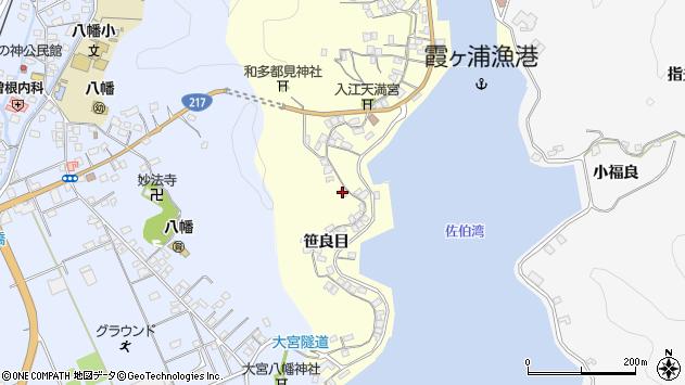 大分県佐伯市霞ケ浦243周辺の地図
