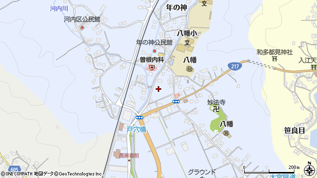 大分県佐伯市戸穴折戸区周辺の地図