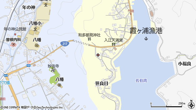 大分県佐伯市霞ケ浦254周辺の地図